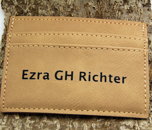 Customizable Rawhide Leatherette Wallet and Money Clip