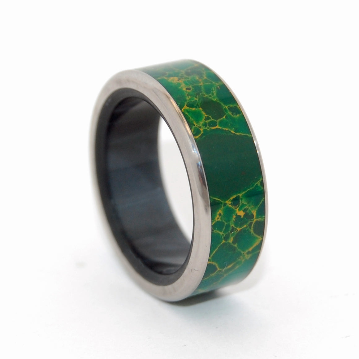 Lucine - She Knows | Egyptian Jade Titanium Wedding Ring
