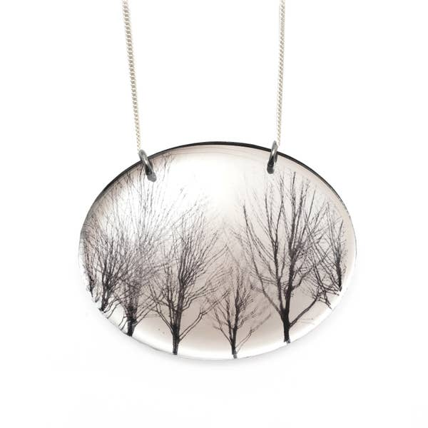 Women's jewelry - Necklace | MIRROR OVAL TREES NECKLACE
