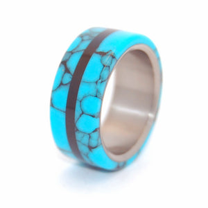 MAN UP | Turquoise Stone & Onyx Stone - Handcrafted Stone and Titanium Wedding Rings - Minter and Richter Designs