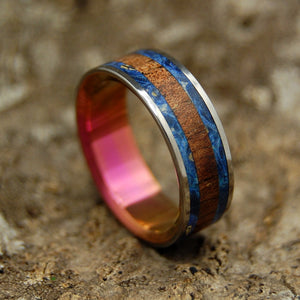 MY BRIGHT LOVE | Hawaiian Koa & Box Elder Wood Wedding Rings - Minter and Richter Designs