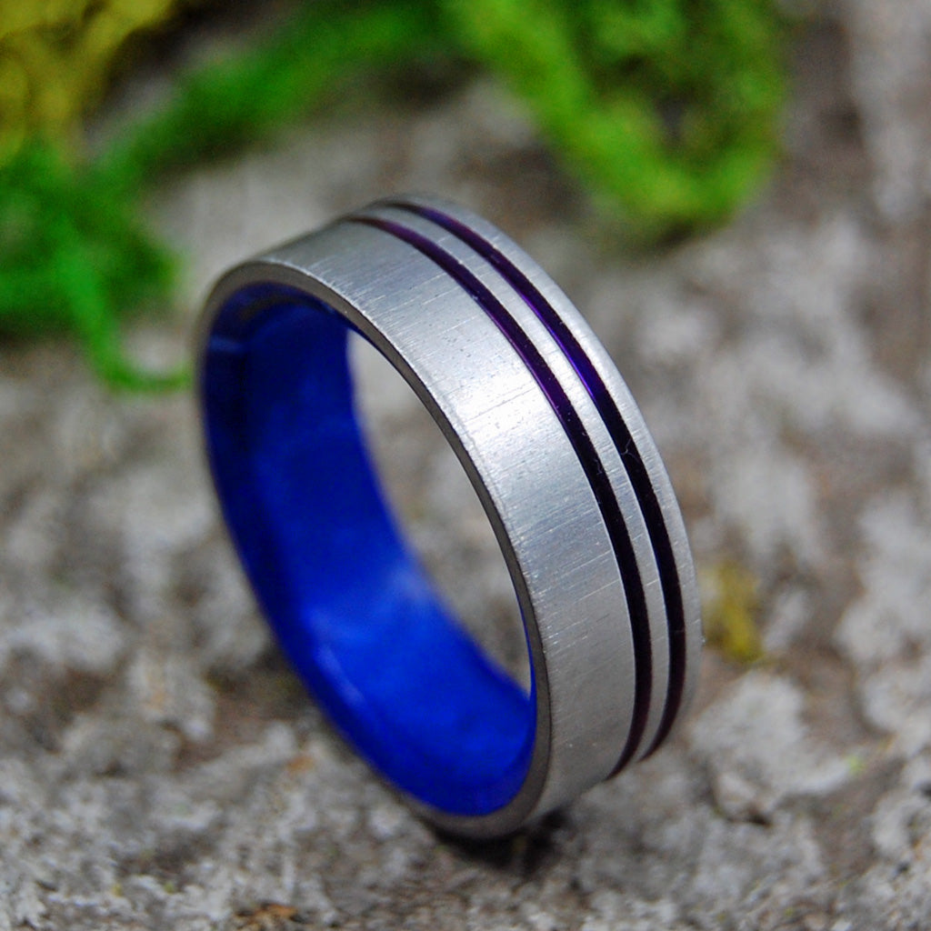 Mens Wedding Rings - Custom Mens Rings - Titanium Wedding Ring | MY HEART.  YOU OWN IT.