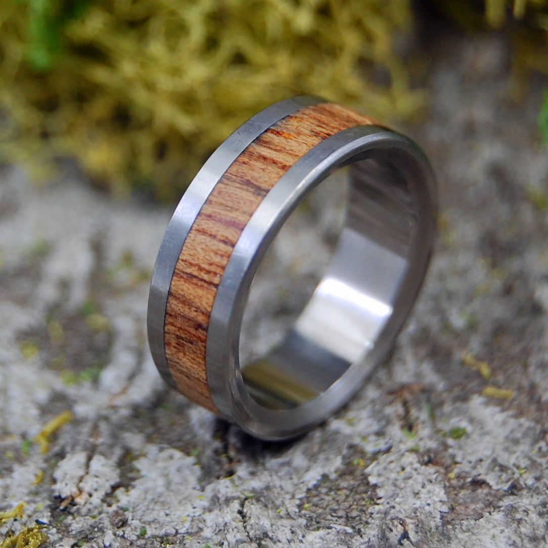 Nalu | SIZE 4.75 AT 5.6MM | Hawaiian Koa Wood | Unique Wedding Rings | On Sale - Minter and Richter Designs
