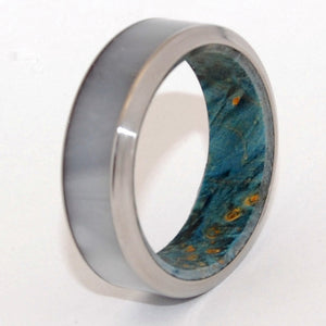INOX Oceania with Beveled Edge | Handcrafted Wooden Wedding Ring