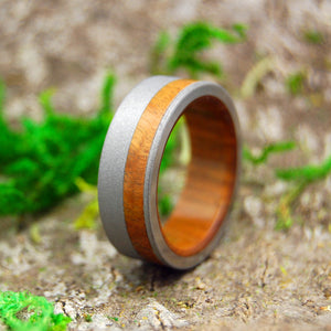 OLIVE GROVE | Olive Wood & Titanium Wedding Rings - Minter and Richter Designs