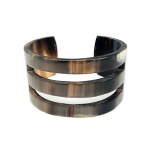 OMALA POLISHED HORN TWO SLITS CUFF | Horn Bracelet - Minter and Richter Designs