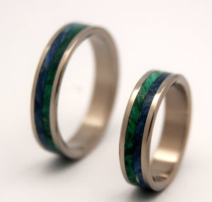 On Sea and On Land | Wooden Wedding Rings