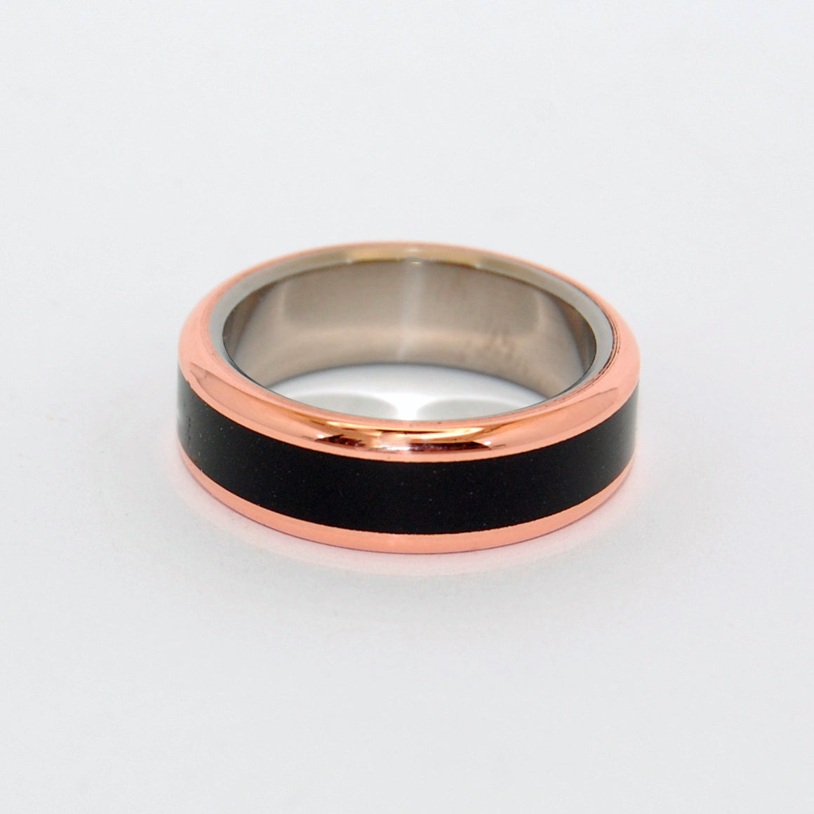 Titanium Onyx Wedding Rings | In His Clearness