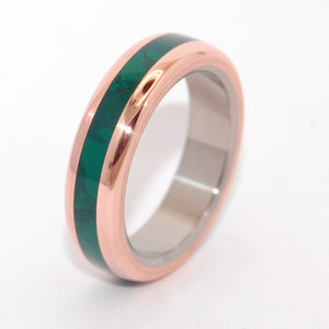 Our Fun Little Secret | Titanium Copper Wedding Rings
