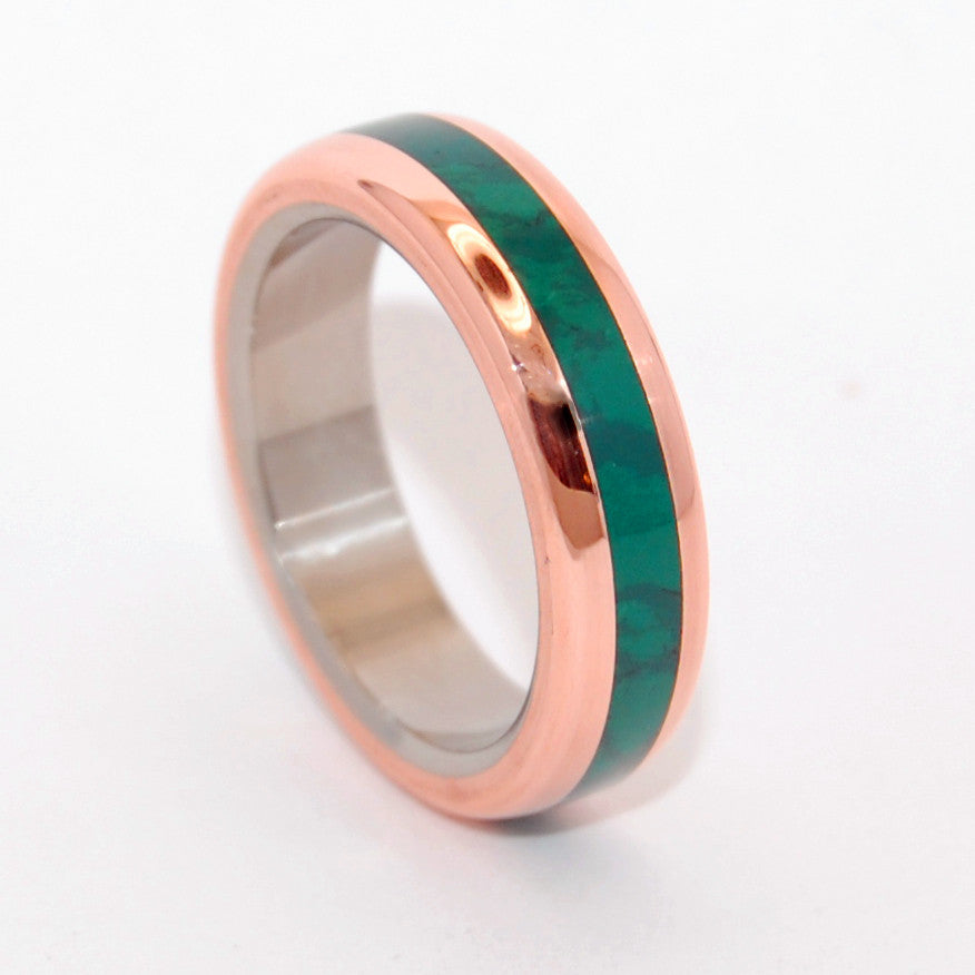 FUN LITTLE SECRET | Jade Stone Wedding Rings - Unique Wedding Rings - Minter and Richter Designs