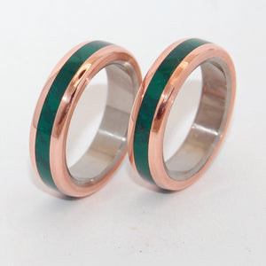 FUN LITTLE SECRET | Jade Stone Wedding Rings - Unique Wedding Rings set - Minter and Richter Designs