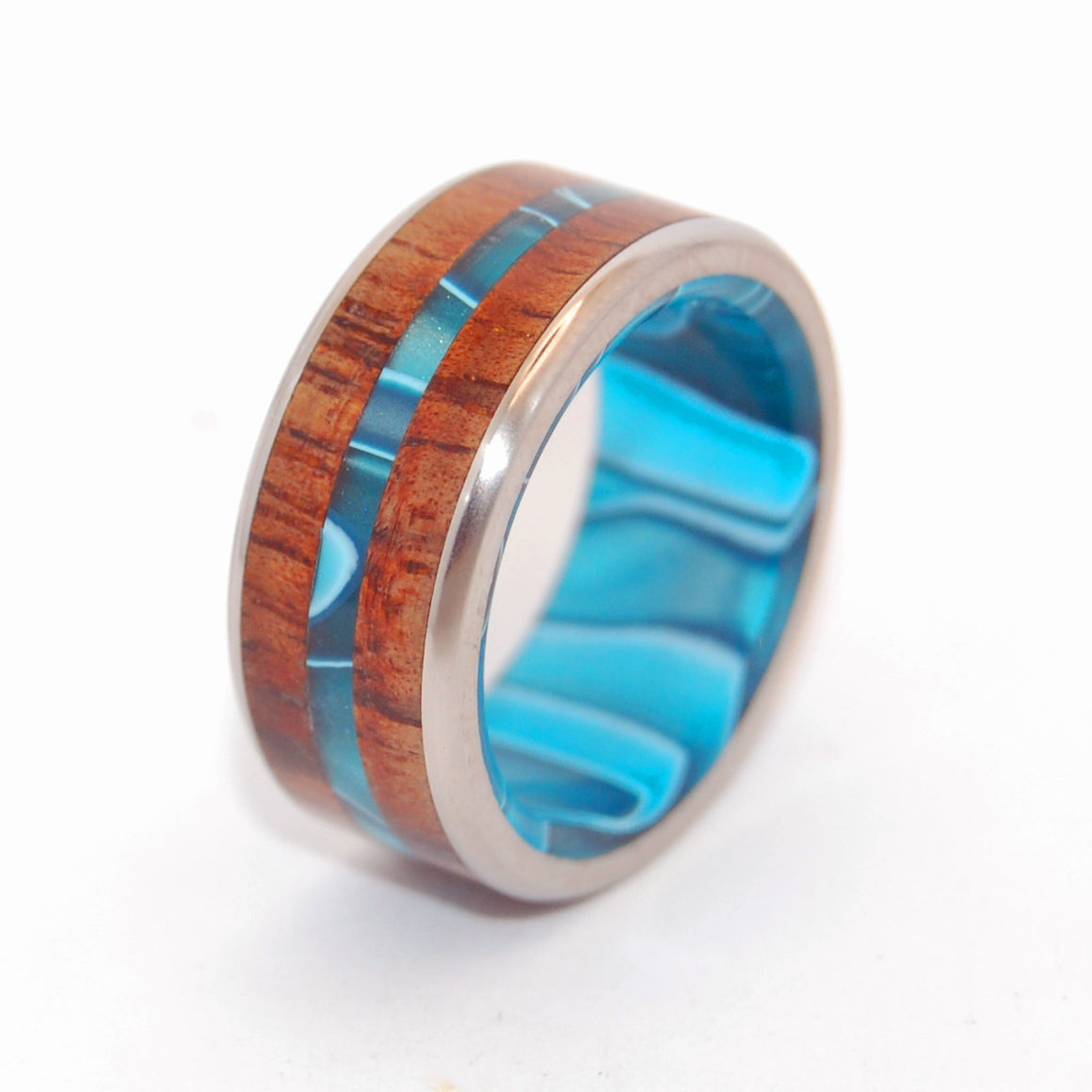 OUTRIGGER | Titanium and Hawaiian Koa Wood Custom Wedding Rings - Minter and Richter Designs