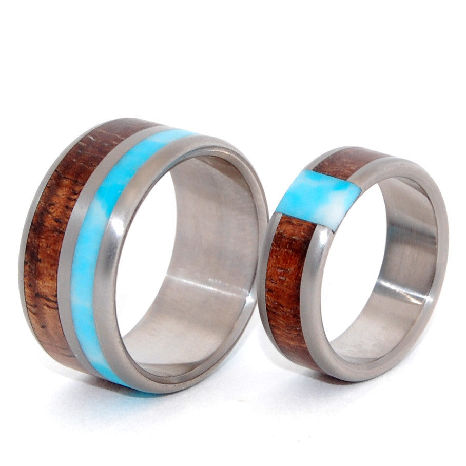 minter + richter | titanium rings - wooden wedding rings - minter