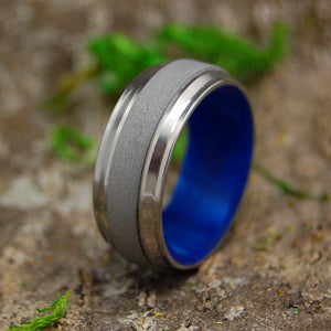Titanium Wedding Ring - Mens Ring | PRINCE IN BLUE