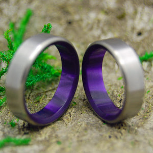 Wedding Ring Set - Purple Wedding Rings | ROYAL SWIM IN