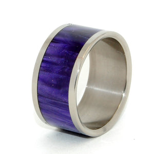 PURPURA |  Purple Resin & Titanium Rings - Unique Wedding Rings - Minter and Richter Designs