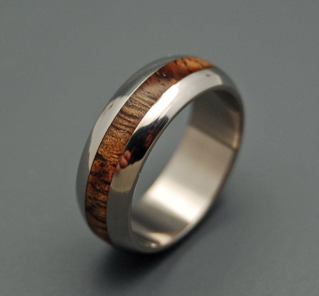 MAHALO | Hawaiian Koa Domed Wooden Wedding Rings - Minter and Richter Designs