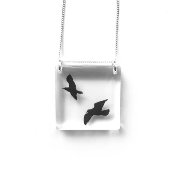 Women's jewelry - Necklace | SQUARE BIRDS NECKLACE - Minter and Richter Designs
