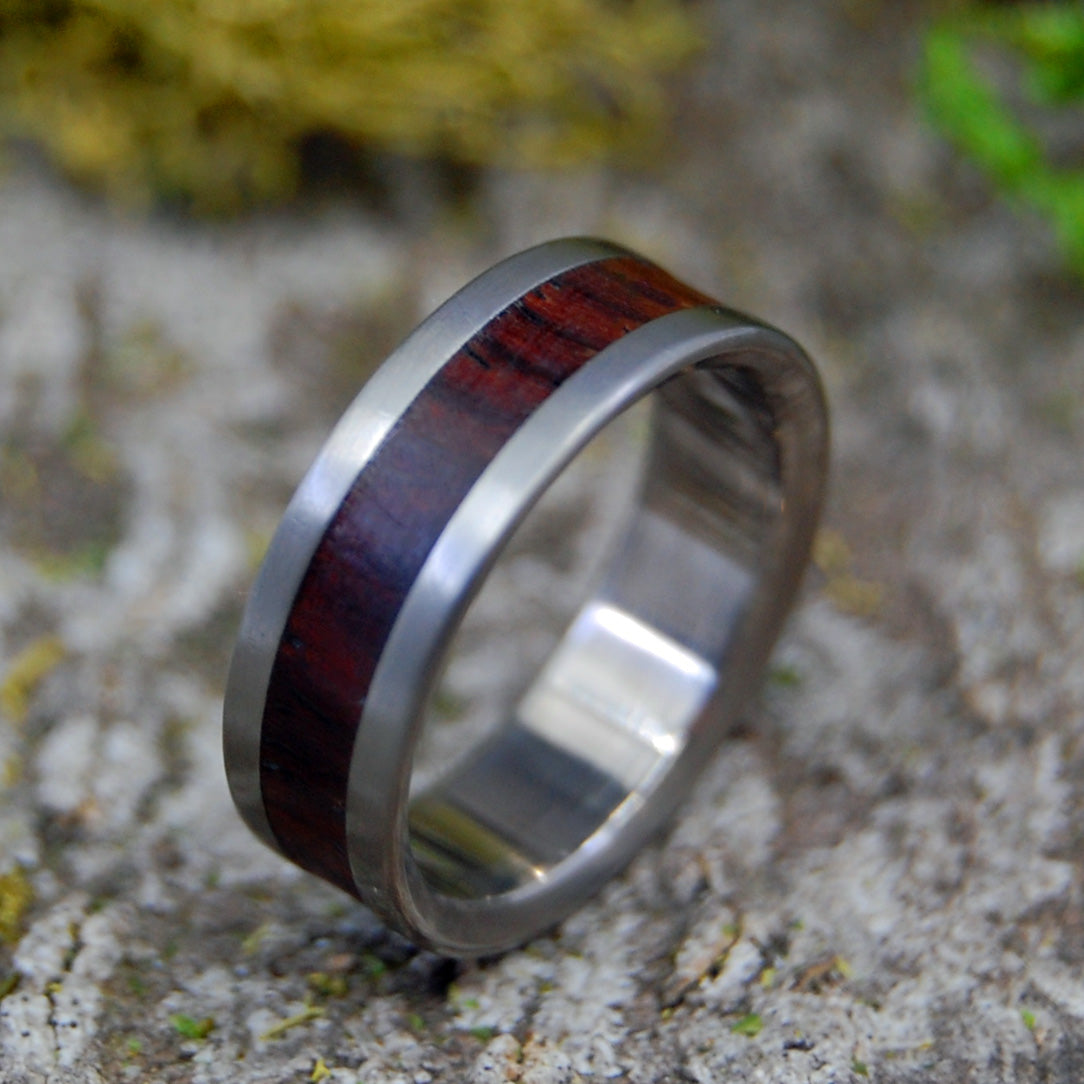 Titanium Wedding Rings | STOCK SALE - SUPER LOVE WOOD RING SIZE 6.25 AT 6MM