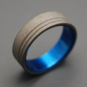 To The Future Blue | Handcrafted Titanium Wedding Ring