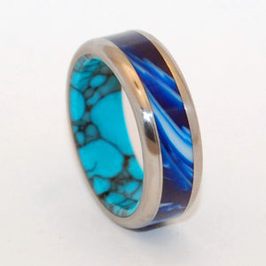 She Said YES !! | Handcrafted  Turquoise Wedding Ring - Minter and Richter Designs