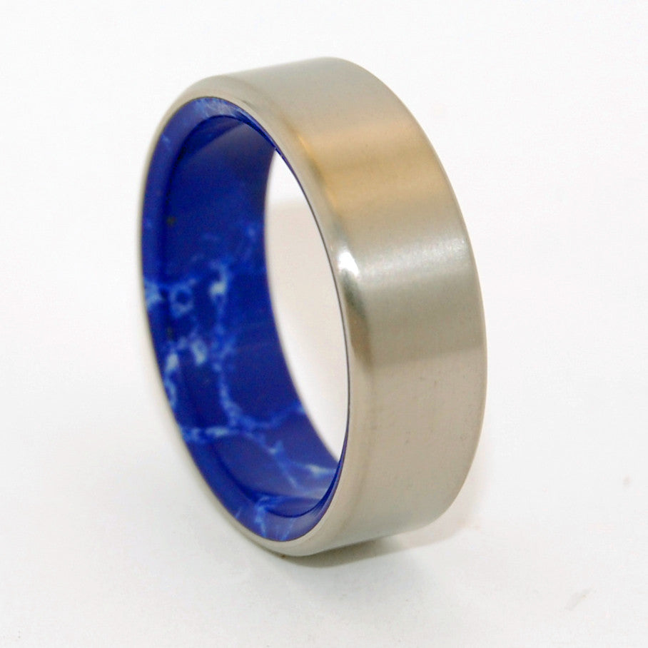 Good Vibrations | Handcrafted Stone and Titanium Wedding Ring - Minter and Richter Designs