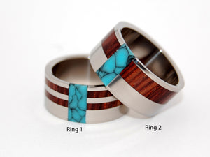 Soul Mates Ready for Battle and Comet and Constellation | Titanium Wedding Rings