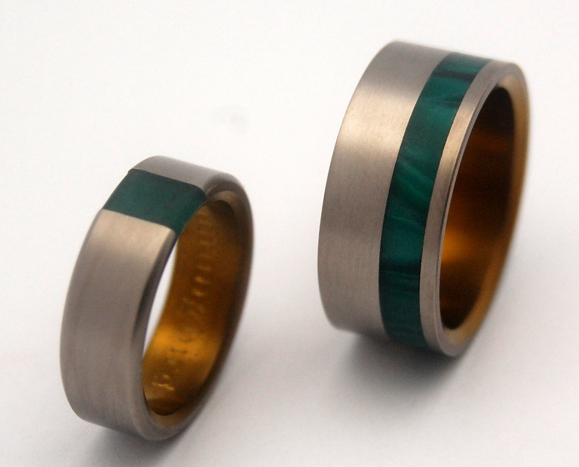 ARRANT JADE & HUMMINGBIRD | Titanium & Stone Wedding Rings - Minter and Richter Designs