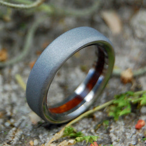 Titanium Wedding Rings | TEXAS MESQUITE WEDDING RING - Minter and Richter Designs
