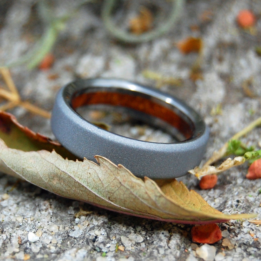 TEXAS MESQUITE | Titanium & Wood Wedding Band - Minter and Richter Designs