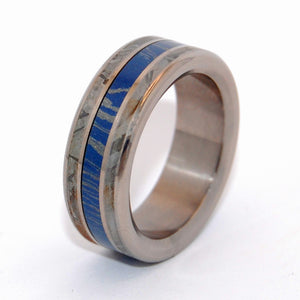 The Final Frontier | Meteorite and M3 - Titanium Wedding Ring