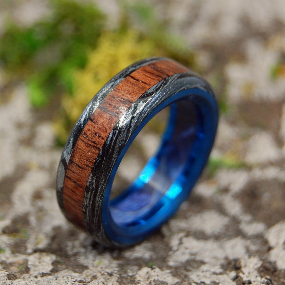 Mens Wedding Ring - Koa Wood Ring | THE FUTURE KEEPS COMING