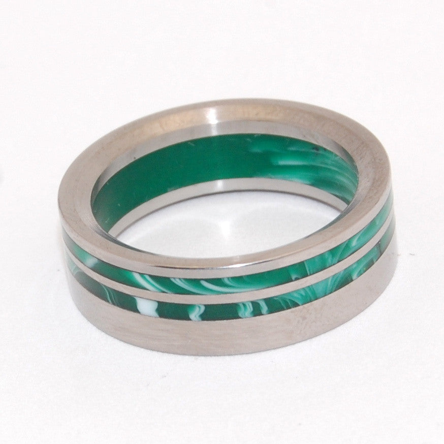 The Green Machine | Handcrafted Titanium Wedding Ring - Minter and Richter Designs
