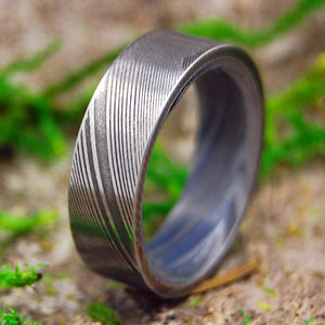 THE GUARDIAN | Damasteel Damascus Steel & M3 Wedding Rings - Minter and Richter Designs