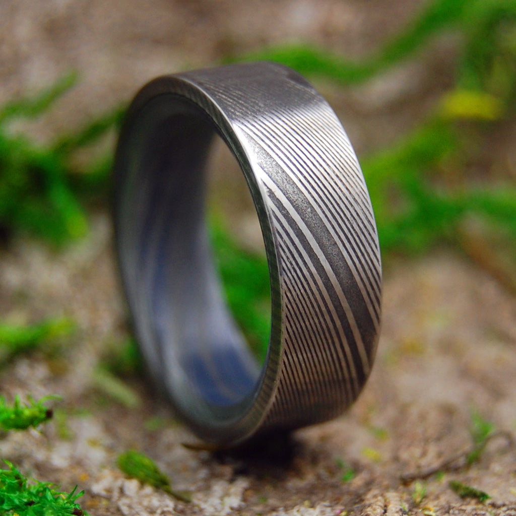 Damasteel Wedding Ring | Unique Men's Black Wedding Rings | THE GUARDIAN
