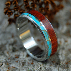 HIMALAYAN KINGS | Tibetan Turquoise and Bloodwood Custom Men's Rings - Minter and Richter Designs