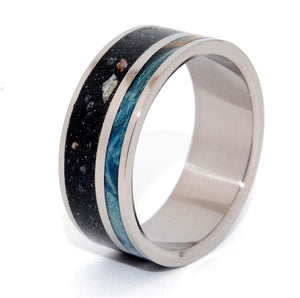 To Rise Above the Dark | Concrete and Wood - Titanium Wedding Band - Minter and Richter Designs