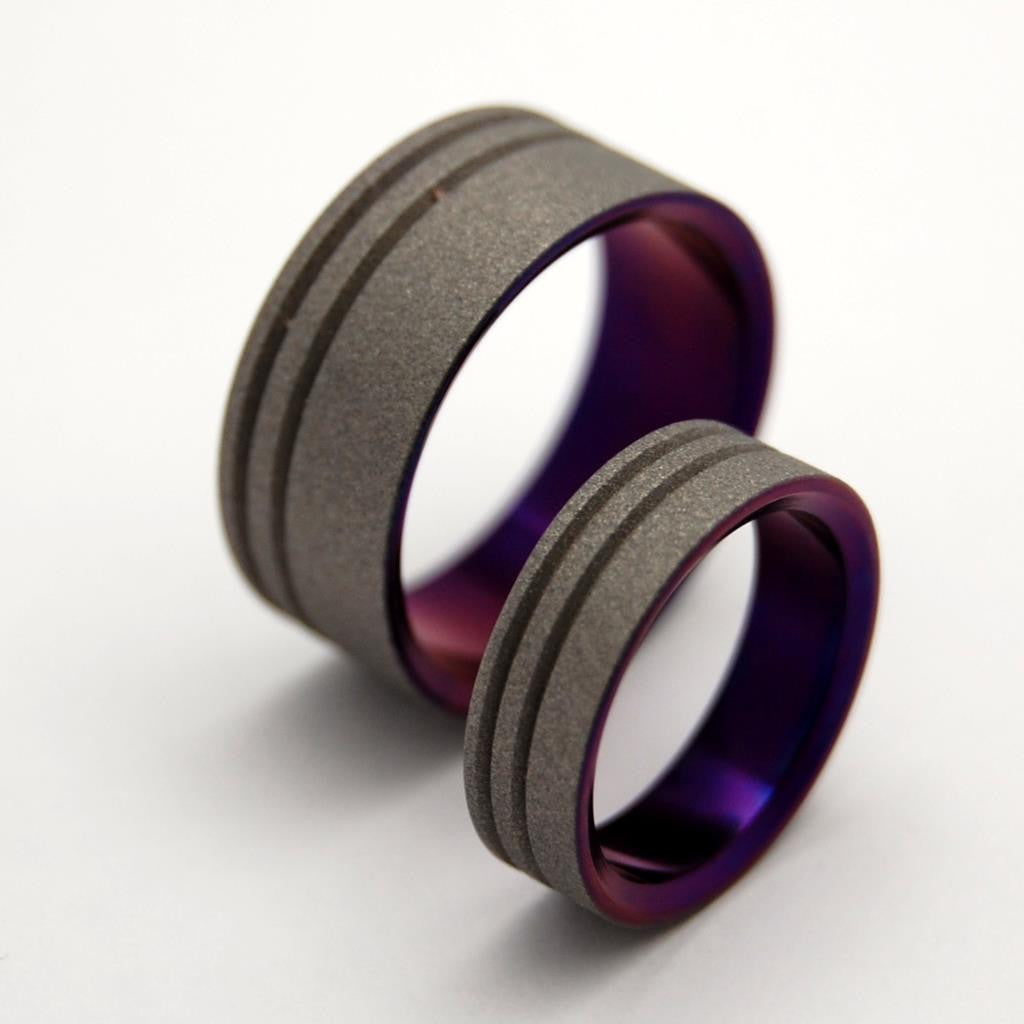 rings ring carbon fiber band meteorite inlay and titanium blue image mens besttohave with wedding jewellery