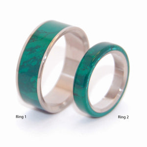 Imperial Jade and All I Want is You and Jade | Jade Wedding Band Set