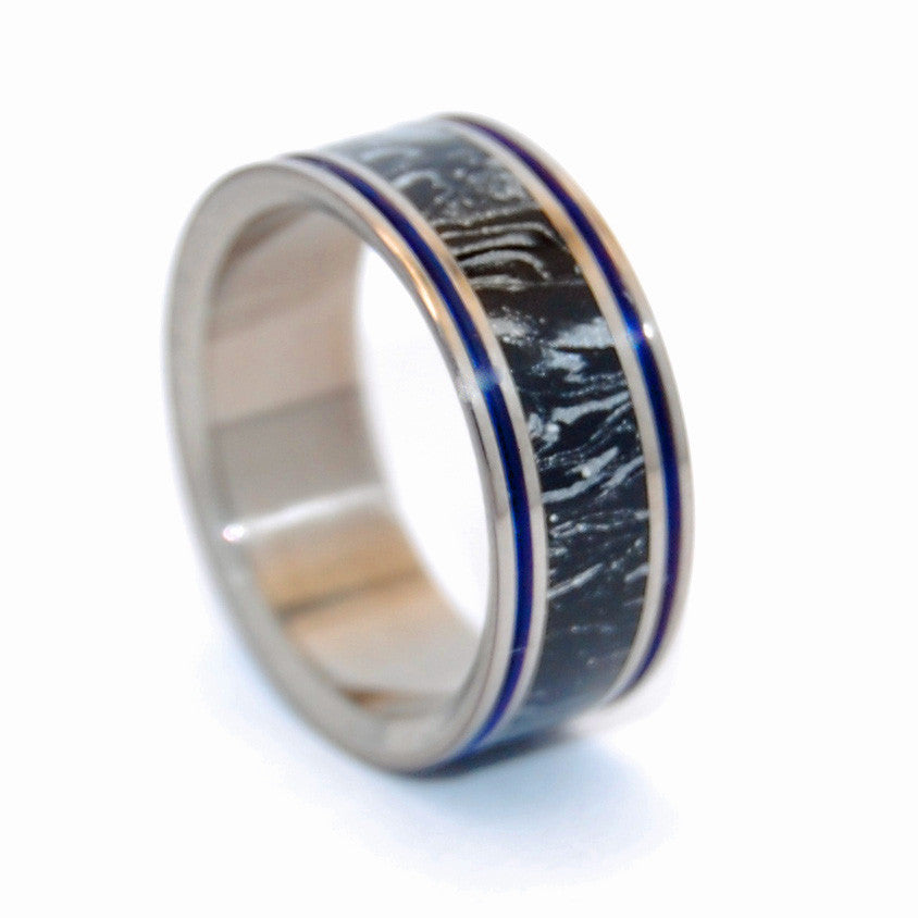 UNDER COVER | Black Silver M3 - Men's Titanium Wedding Rings - Minter and Richter Designs