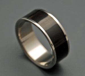 POE | Water Buffalo Horn - Black Titanium Wedding Rings - Antler Wedding Rings - Minter and Richter Designs