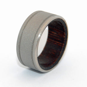 A Walk in the Wenge Woods | Tropical Wood Titanium Wedding Ring