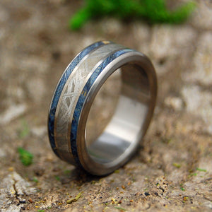 Mens Wedding Rings - Custom Mens Rings - Meteorite Rings | WHEN A TREE MEETS A METEORITE