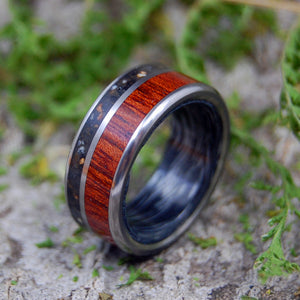 Dinosaur Tooth Wedding Ring - Tyrannosaurus Rex  - Custom Mens Rings - Wood Wedding Rings | EXECUTIVE T-REX - Minter and Richter Designs