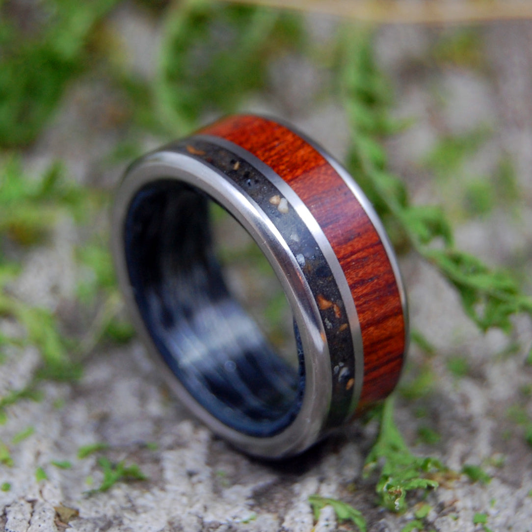 EXECUTIVE T-REX | Dinosaur Tooth & Wood Wedding Ring - Minter and Richter Designs