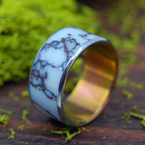 WILD HORSE AT SUNSET | Wild Horse Jasper Stone - Unique Wedding Ring - Minter and Richter Designs