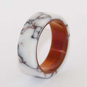 Wild Horse Bronze | Titanium Stone Wedding Rings