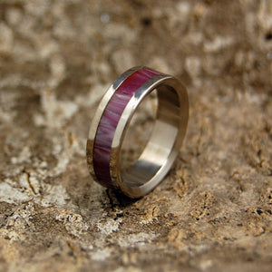 Wine Marbled | Wooden Titanium Wedding Ring