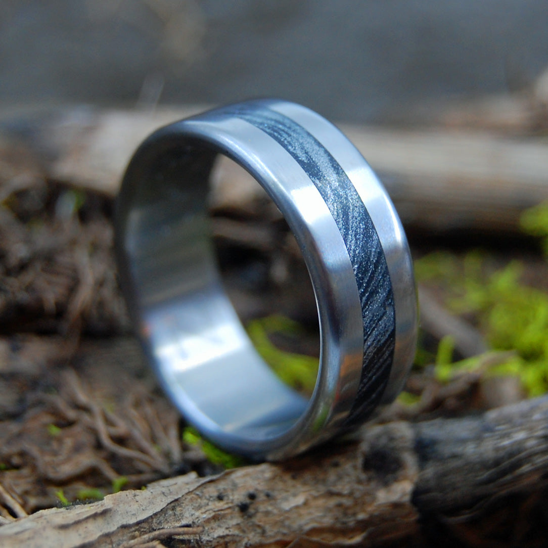 THE MAN THEY CALL Z | Titanium & Mokume Gane - Men's Wedding Ring - Minter and Richter Designs