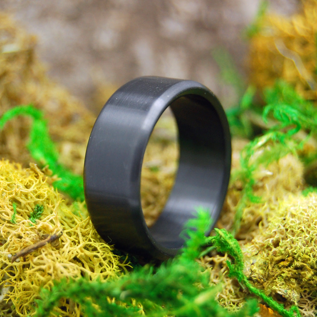 Men's Black Zirconium Ring - Handcrafted Zirconium Wedding Ring | ATOMIC NUMBER 40